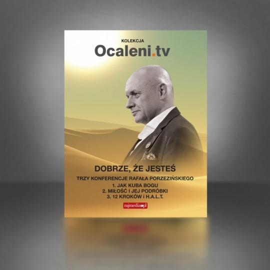 Pakiet: Dobrze że jesteś – trzy stand upy Rafała Porzezińskiego + 5 filmów DVD