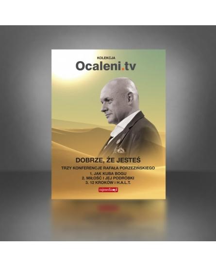 Dobrze że jesteś – pakiet trzech stand upów Rafała Porzezińskiego + 5 filmów DVD